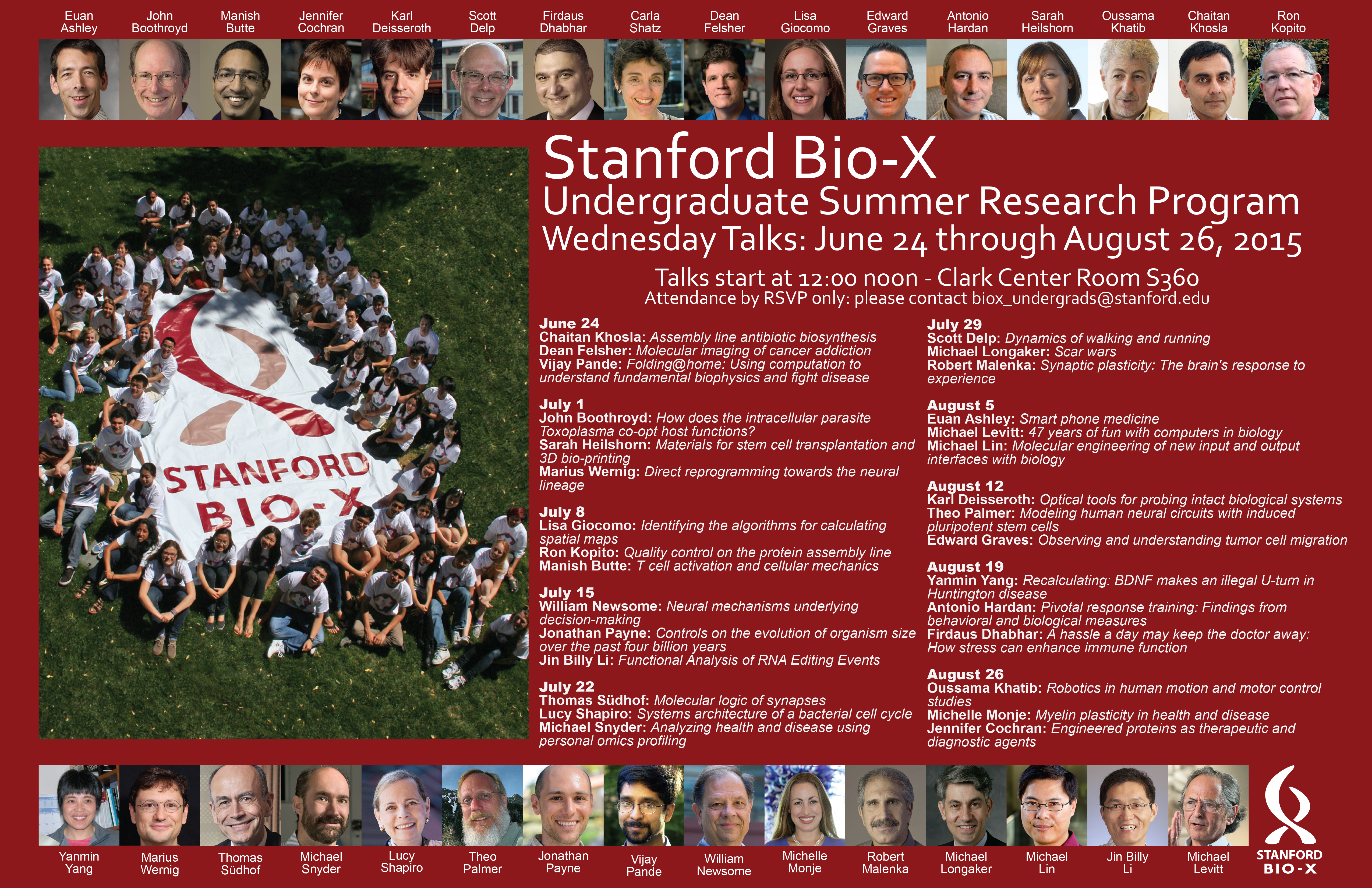 Bio-X Undergraduate Summer Research Program Poster