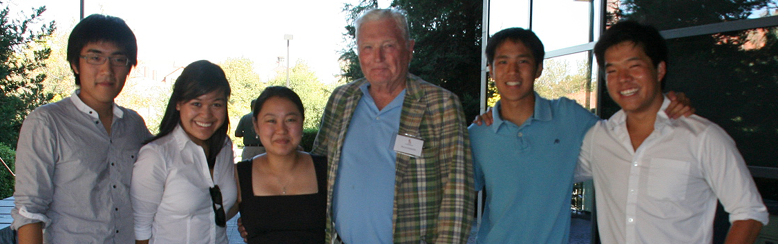 photo of donor Pitch Johnson with the Undergraduates he sponsored in 2010