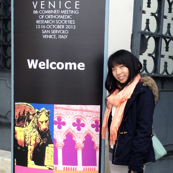 Photo of Travel Awardee Tianyi Wang in Venice, Italy.