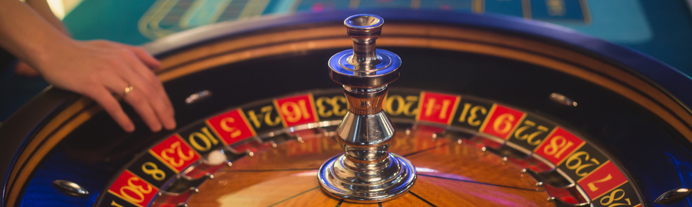 Photo of roulette wheel.