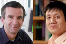 Photos of Drs. Axel Brunger and Liqun Luo.