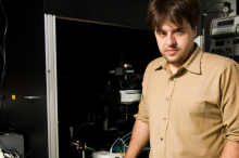 Photo of Dr. Karl Deisseroth in the laboratory.