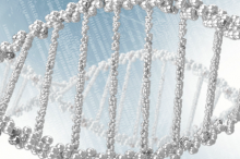 Graphic image of DNA.