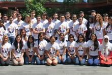 Group photo of USRP students.