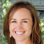 Photo of smiling female white faculty member, Dr. Tawna Robets, Assistant Professor of pediatric ophthalmology at Stanford University.